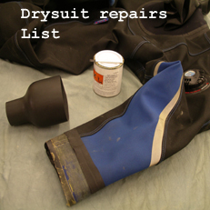 drysuit repairs list